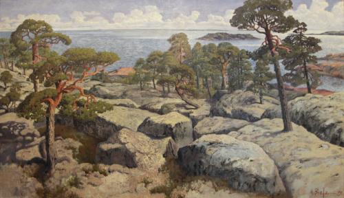 Helmi Biese, Näköala Villingestä 1899, Tampereen Taidemuseo