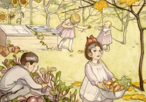 Martta Wendelin, Kultaisilta päiviltä -kirjan kuvitus