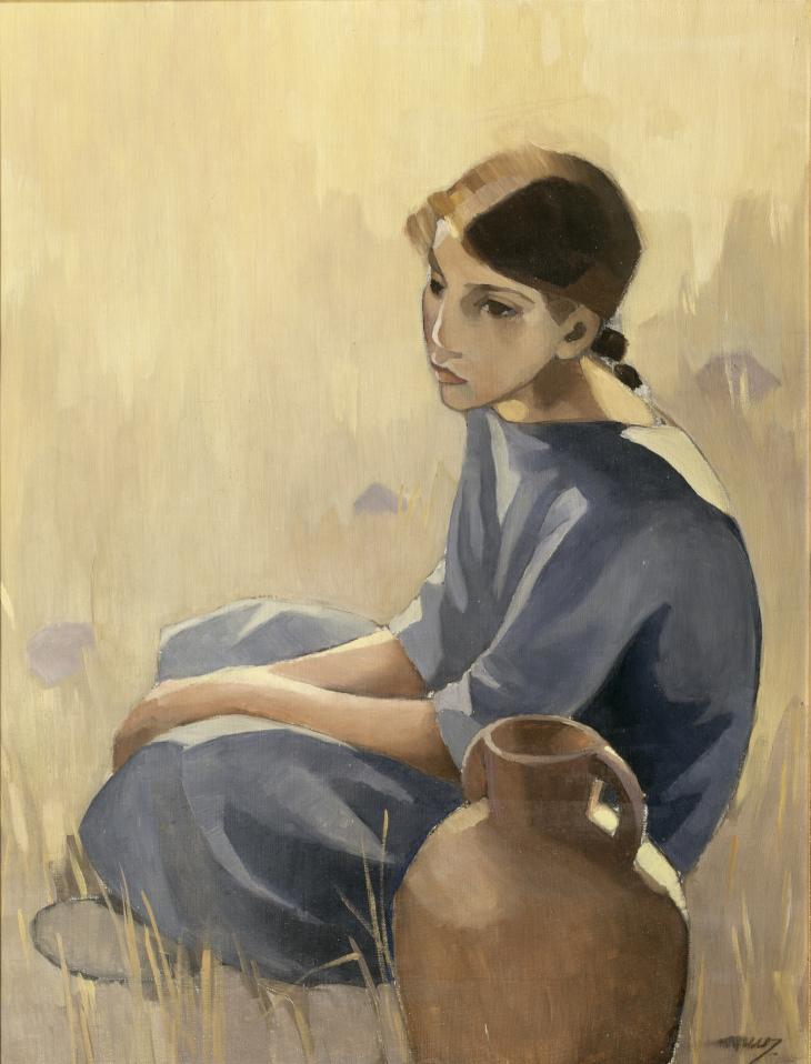Martta Wendelin, Vedenkantajatyttö, 1927, yksityiskokoelma. Kuva Tuusulan taidemuseo