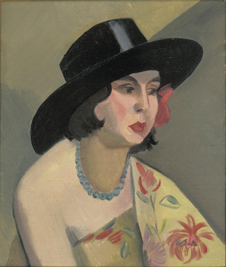 Viivi von Schrowe-Kallio, Hattupäinen nainen, Kemin taidemuseo, kuva Pentti Korpela