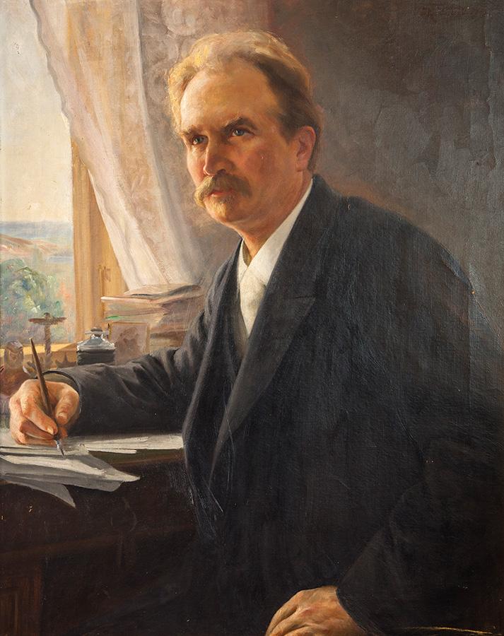Kaarlo Vuori, J. H. Erkon muotokuva 1897, yksityiskokoelma. Kuva Kari Kohvakka