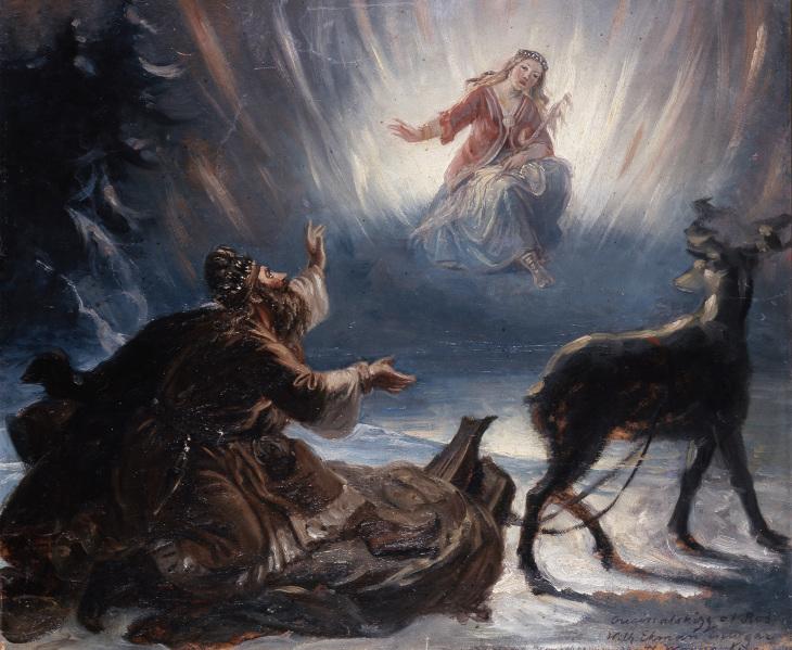 R. W. Ekman, Väinämöinen ja Pohjan neito, 1861, Kalevalaseura