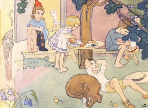 Martta Wendelin, Annin kestit, akvarelli 1917